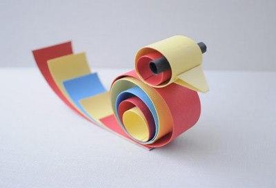 Конструирование из бумажных полосок поделки из бумажных полосок 131
