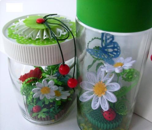 Поделки летом цветы в банке