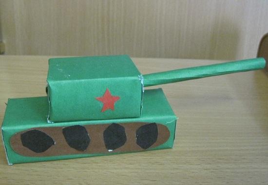Как сделать папе танк